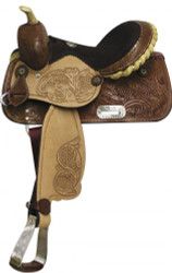 "12"" Double T Barrel Style Youth/ Pony Saddle"