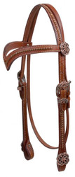 Showman ® V Style Browband Headstall with Celtic Knot Conchos and Hardware