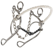 Showman ® stainless steel, rope nose combination but with twisted sweet iron mouth.