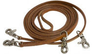 Showman ® 11 ft Argentina leather draw reins.