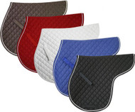 Showman Quilted English Saddle Pad