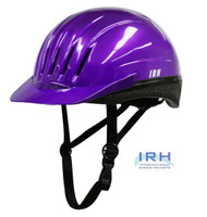 Purple EQUI-LITE Riding Helmet with Dial Fit System by International Riding Helmets