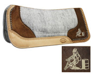 Showman™ Felt Bottom Saddle Pad with Laser Etched Barrel Racer