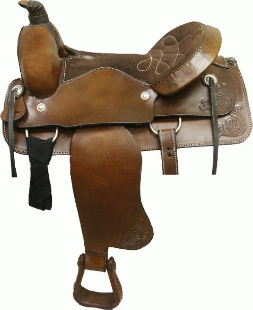 Circle 'S' Western Bullhide Covered Roping Saddle