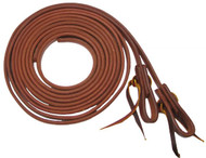 "Showman 1/2"" X 8' Long Oiled Harness Leather Split Reins"