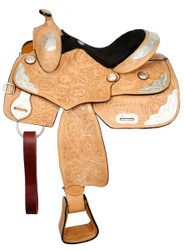 "14"" Fully Tooled Double T Youth Show Saddle"