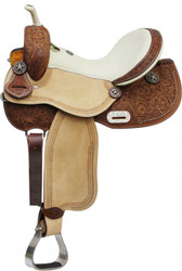 "14"" 15"" 16"" Double T Barrel Style Saddle with Texas Star Conchos"