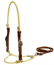 Showman ® Lariat rope tie down with leather cheeks.