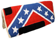 "Showman® 30"" x 32"" Economy style rebel flag pad with fleece bottom."