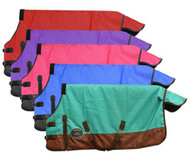 "FOAL/MINI SIZE 36""-40"" Waterproof and Breathable Showman™ 1200 Denier Turnout Blanket."
