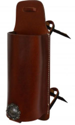 Showman® Medium leather bottle carrier.