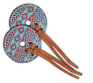 Teal and brown Navajo diamond Bit Guards.