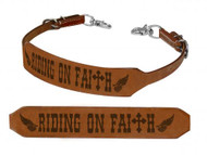 Showman ® Running on Faith branded wither strap.