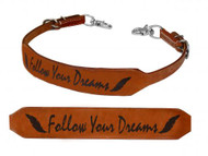 Showman ® Follow Your Dreams branded wither strap.