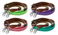Showman ® 7ft rubber grip barrel reins.