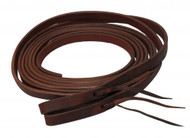 "Showman ® 8ft X 5/8"" Oiled harness leather split reins. Made in America."