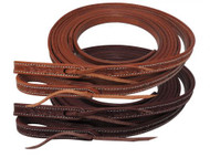 """Showman ® 5/8"""" x 8ft Argentina cow leather barbed wire tooled split reins."""