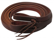 "Showman ® 8ft X 3/4"" Oiled harness leather split reins. Made in America."
