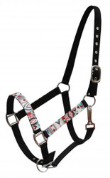 Showman ® Full Size Halter with Navajo print overlay.