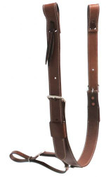 """Showman ® PONY 1.75"""" wide leather back cinch with roller buckles."""