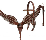 Showman ® Angel wing headstall and breast collar set