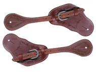 Showman ®  Men's leather spur straps