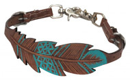 Showman ® PONY Cut-out, hand painted feather wither strap.