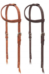 Showman ® Argentina cow leather one ear headstall with stainless steel hardware.
