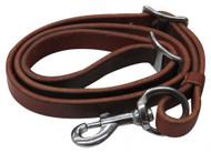 """Showman ® 3/4"""" x 40"""" Oiled harness leather tie down strap."""