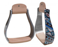 Showman ® Holographic Navajo print stirrup.