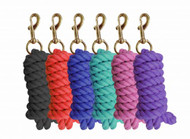 9ft Cotton lead rope with brass plated snap.