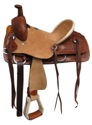 "12"" Double T Youth hard seat roper style saddle"
