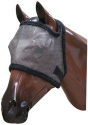 Showman fleece lined fly mask with citronella scent.