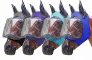 Showman ® Lycra® Zipper fly mask with ears.