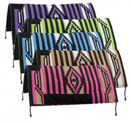"32"" x 32"" Arcylic top saddle pad with Navajo design and 1"" felt bottom."