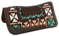 """Showman ® 34"""" X 36"""" Memory felt saddle pad with woven top."""