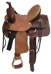 "12"" Buffalo  Youth hard seat roper style saddle."