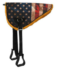 Showman ® American flag design bareback saddle pad with kodel fleece bottom.