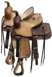 "13"" Blue River Bullhide Hard Seat Junior Roping Saddle"