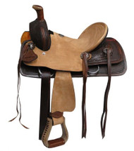 "10"" Double T  Youth hard seat roper style saddle"