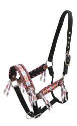 Showman ® Multi colored Navajo print inlay halter.
