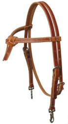 Medium Oil Furturity Knot Harness Leather Headstall with Snaps