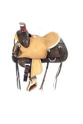 """13""""Double T  Pony hard seat roper style saddle."""