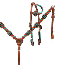 Showman ® Beaded headstall and breast collar set..