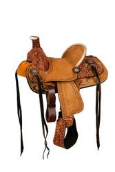 """10"""" Double T hard seat roper style saddle."""