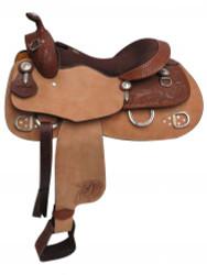 """16"""" Double T Training Saddle. Full QH Bars."""