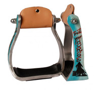 "Showman ® ""Trust Your Horse"" barrel racer print stirrup."
