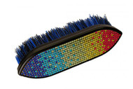 Showman™ Multi colored crystal rhinestone medium bristle brush.