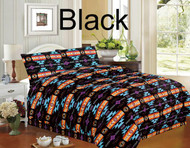 4 piece Queen Size Southwest Design Luxury Comforter Set.