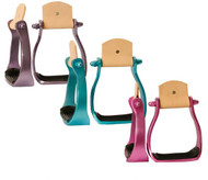 Showman® Color coated light weight aluminum stirrups.